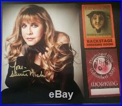 Stevie Nicks Fleetwood Mac Framed Signed Autographed 8x10 Photo + 2 VIP pass COA