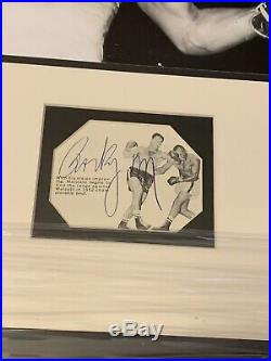 Stunning Rocky Marciano SIGNED Boxing Photo JSA LOA Huge Autograph Framed 16x18