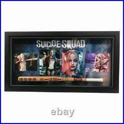 Suicide Squad Margot Robbie Hand Signed Framed Photo With Bat Harley Quinn Joker