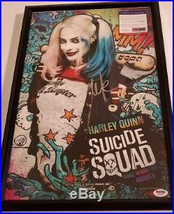 Suicide Squad Margot Robbie (Harley Quinn) signed Photo PSA DNA (Framed)