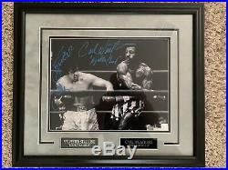 Sylvester Stallone Carl Weathers Signed Autographed Framed Photo ASI Coa Rocky