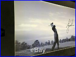 TIGER WOODS UDA Upper Deck AUTHENTICATED Signed AUTO FRAMED 19 x 37 PANORAMIC
