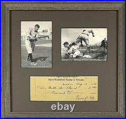 TY COBB Signed / Autographed / HOF Framed Check / Beckett LOA Beautiful Piece