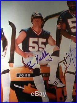 Taylor Kelly Carson Van Pelt NY Giants CRUNCH BUNCH Signed 20/24 Framed Photo