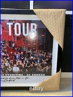 Taylor Swift RED Tour Band/Crew Gift. Framed Photo, RIAA Award. Signed Rare New