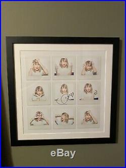 Taylor Swift Signed AUTHENTIC AUTOGRAPH Framed 1989 Lithograph Photos, Read Desc