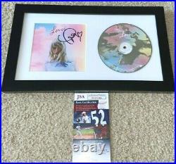 Taylor Swift Signed Lover CD Cover Framed Singer Me! Red 1989 Reputation Jsa