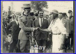 Tazio Nuvolari FORMULA 1 autograph, signed oversized vintage photo framed