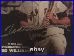 Ted Williams Signed Autographed FRAMED Sports Illustrated Cover Autographed UDA