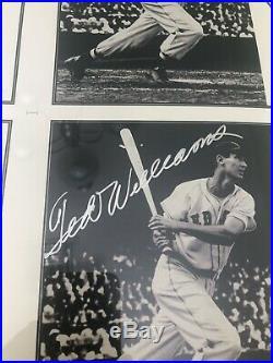 Ted Williams Signed Boston Red Sox 18 X 24 UDA COA Auto 23 1/2 X 29 Framed RARE