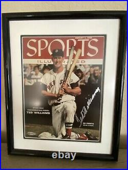 Ted Williams Signed Framed Sports Illustrated 8x10 Cover 1955 Upper Deck Uda Coa