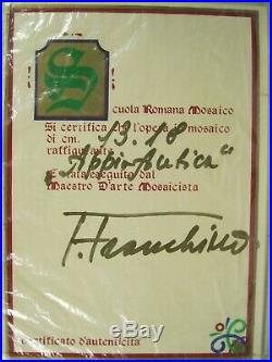 Telesforo Franchino Signed picture Framed Hand Tile micro mosaic art glass
