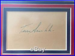 Terry Sawchuk Signed and Framed Autograph