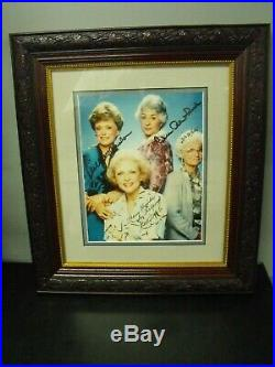 The Golden Girls Framed Signed Cast Photo With Coa