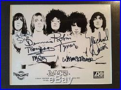 The MC5 signed group promo photo 1970 KOTJMF Framed and beautiful