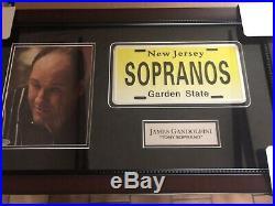 The Sopranos James Gandolfini Autographed Signed Framed Photo Collage Beckett
