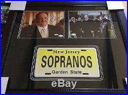 The Sopranos James Gandolfini Autographed Signed Framed Photo Collage ++ JSA