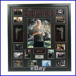 The Sopranos James Gandolfini Hand Signed Framed Photo With Guns Cigar