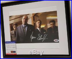 The Sopranos James Gandolfini signed 8x10 Photo PSA DNA (Framed)