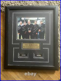 The Sopranos Signed/Autographed Matted & Framed Cemetery Scene Bullets