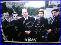 The Sopranos Signed/Autographed Matted & Framed Cemetery Scene Photo. PSA LOA