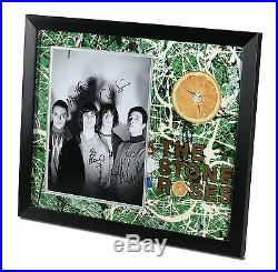 The Stone Roses Signed Large Photo Framed Autograph Memorabilia Ian Brown + COA