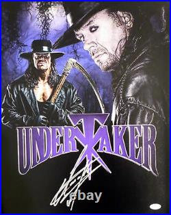 The Undertaker Autographed Signed Framed 16x20 Photo Wwe Psa/dna 174292