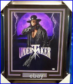 The Undertaker Autographed Signed Framed 16x20 Photo Wwe Psa/dna 174293