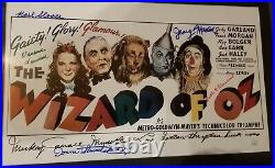 The Wizard Of Oz Custom Framed Movie Print Poster Cast-Signed Autographed + COA