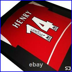 Thierry Henry Signed Arsenal Shirt Framed COA Photo Proof Red Invincibles 03/04