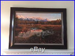 Thomas Mangelsen Autumn Reflections 30 x 45 framed canvas print