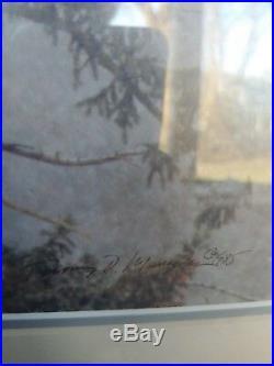 Thomas Mangelsen November Snows Bald Eagles Signed Numbered 38/950 Matted Framed