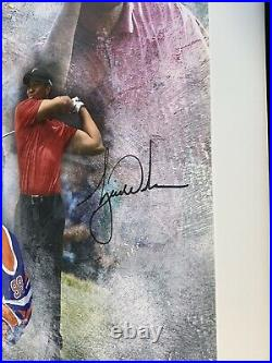 Tiger Woods & Wayne Gretzky Autographed Signed Rarefied Air 16 x 20 Framed UDA