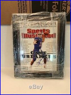 Tim Tebow Signed Framed Sports Illustrated Florida Gators COA Holo Pic Heisman