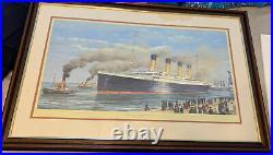 Titanic Survivor Signed Framed Picture Titanic, Maiden Voyage + Certifi