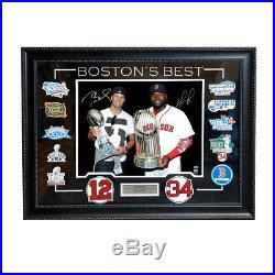 Tom Brady David Ortiz Signed Autographed Bostons Best 16×20 Framed TRISTAR