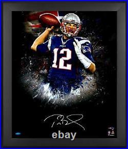 Tom Brady New England Patriots Framed Signed 20x24 2016 In Focus Photo TRISTAR