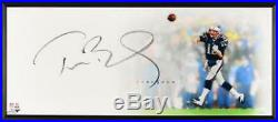 Tom Brady New England Patriots Signed The Show UDA 46x20 Framed Photo TRISTAR
