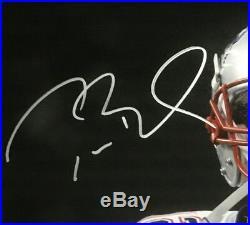 Tom Brady SB 51 MVP signed 16x20 scream photo framed Patriots coin auto tristar