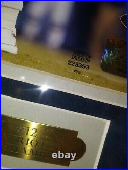 Tom Brady Signed/Auto-Autograph, Framed, 8X10 & Tri-Star, Field of Dreams COA