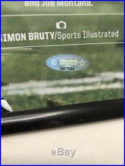 Tom Brady Signed Autograph Auto Framed 24x28 Photo Tristar And Steiner Coa Holo