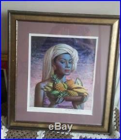 Tretchikoff fruits of bali signed framed picture by tretchikoff himself at exhib
