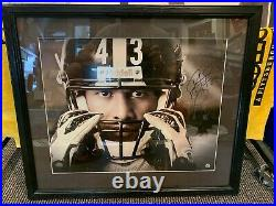 Troy Polamalu Pittsburgh Steelers Signed 23x26 Framed 16x20 Photo Total Sports