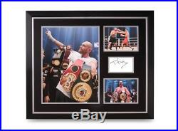 Tyson Fury Signed Photo Large 24x20 Framed Boxing Autograph Display + COA