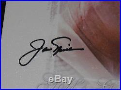 UDA Jack Nicklaus Tiger Woods dual signed Golf's Greatest Canvas FRAMED LE 250