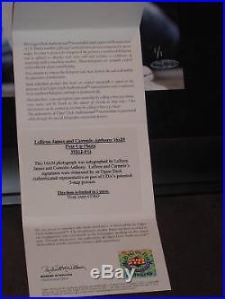 UDA Lebron James Carmelo Anthony dual signed NBA Photo FRAMED LE 1/1