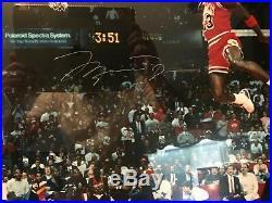UDA Michael Jordan Signed Autographed 16x20 Framed 88 Gatorade Slam Dunk photo