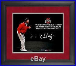 Urban Meyer Ohio State Buckeyes Framed Signed 11 x 14 Quote Spotlight Photo