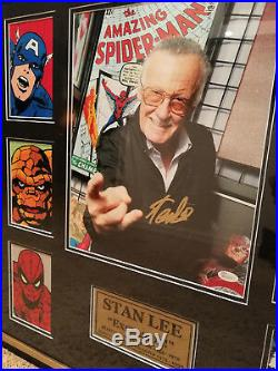 VERY RARE Stan Lee Signed Custom frame with signing photo and JSA autograph auth
