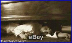 VIK MUNIZ'Under the Bed' SIGNED Ambrotype Photograph from'Clayton Days' Framed